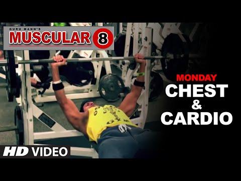 Monday: Chest Workout & Cardio Workout   'MUSCULAR 8' by Guru Mann