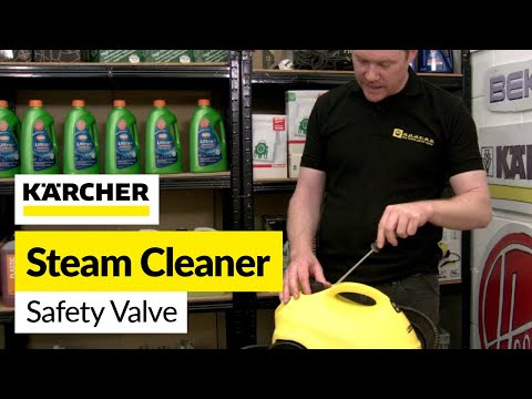 How to Replace a Stuck Safety Valve on a Steam Cleaner