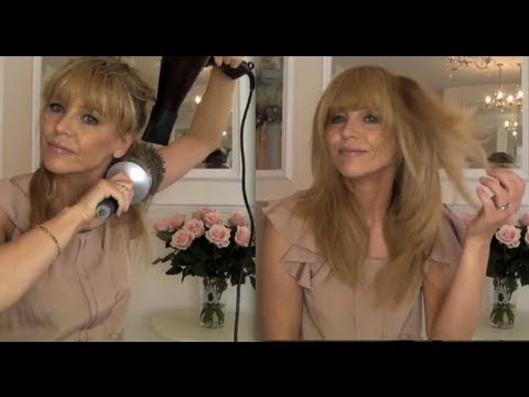 Jennifer Aniston hair - blow dry, tricks to speed up your drying time.
