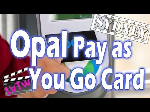 Sydney Public Transportation, using the Opal Card