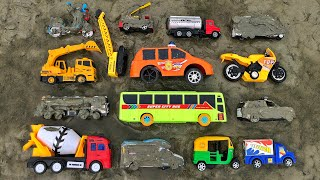 Cleaning attractive toy vehicles, City Bus, Tank Truck, Auto Rickshaw, Ambulance and many more