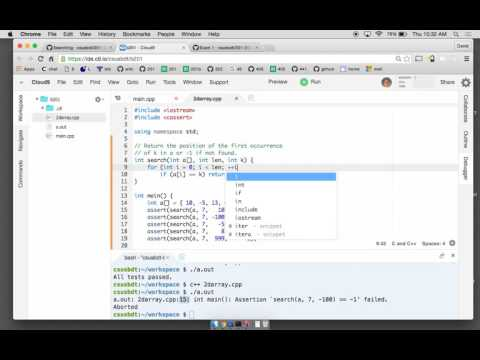 Linear and binary search in C++