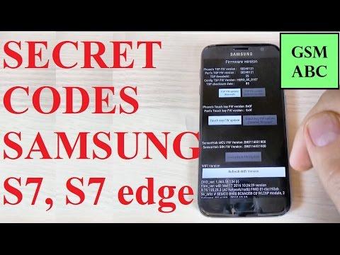 SECRET CODES for Samsung Galaxy S7, S7 edge