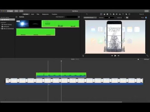 how to add green screen footage in imovie?