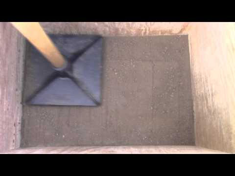How to Make a Rammed Earth Test Block - 5% Cement