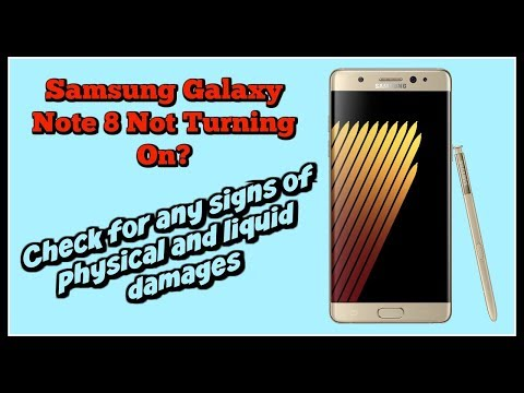 Samsung Galaxy Note 8 Not Turning On   Check Physical and Liquid Damages