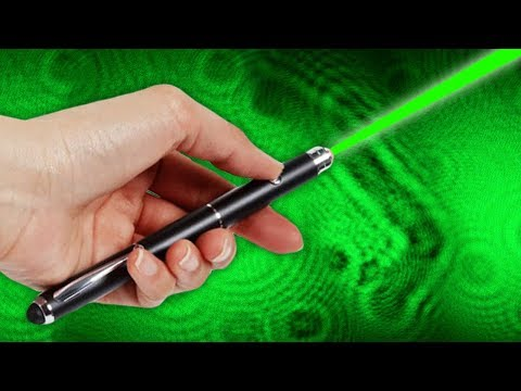 How to Make a Huge Microscope Projector from a Laser Pen - Amazing Science Experiments 2018