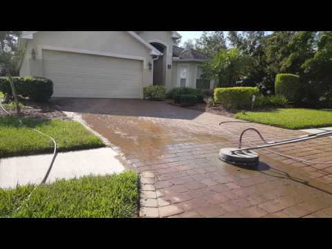 Cleaning Driveway Pavers. [1080p HD]
