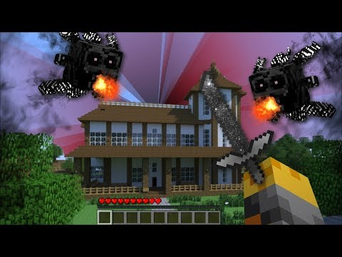 GIANT VOID CREATURES APPEAR IN MY HOUSE IN MINECRAFT !! Minecraft Mods