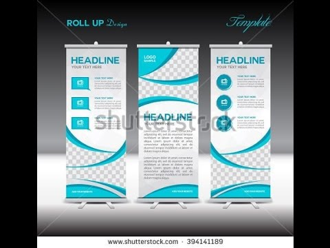 How to Design Roll up banner in Coreldraw standy tutorials