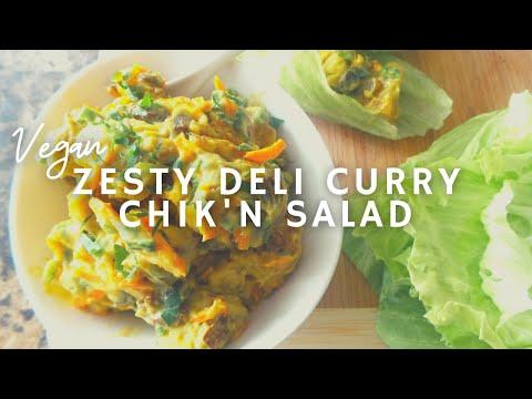 Zesty Deli Curry Chicken* Salad | #9 Vegan Chickathon | Gluten-free | Korenn Rachelle