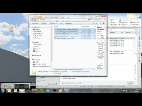 How to move Outlook files to desktop