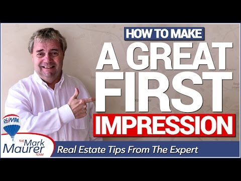 REAL ESTATE TIPS: How To Make A Great First Impression When Selling Your Home