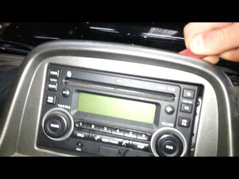 How to remove the radio from a Nissan Navara D22