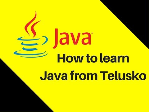 3.2 How to learn Java from Telusko