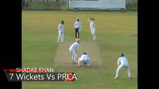 Shadab Khan First man of Match the in QAT Match playing for SNGPL VS PESHWAR  7 Wickets and 57 Runs