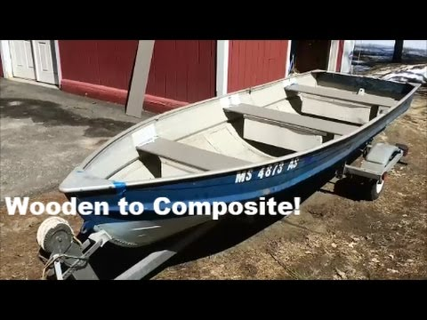 Wooden Boat Seat Upgrade to Composite (Trex)