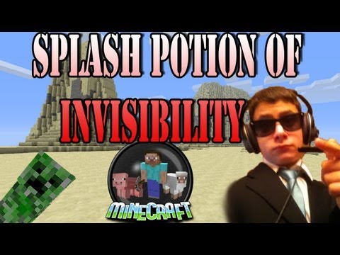 How to make a splash potion of invisibility EASY!
