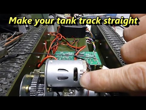 RC tank how to tracking straight modification