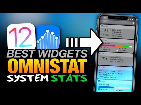 Best iOS 12 WIDGETS - OMNISTAT - SYSTEM STATISTICS - Battery - RAM - CPU For iPhone & iPad
