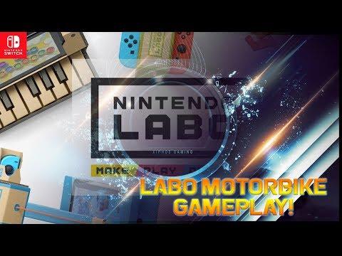 【Nintendo Labo】Motorbike Gameplay!