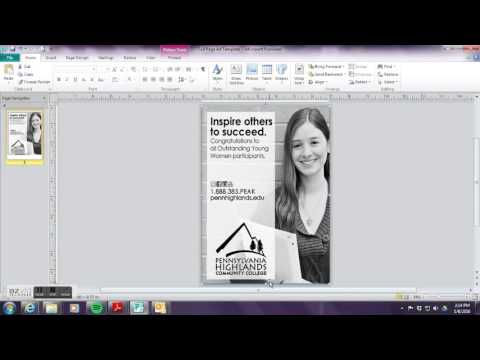 How to design an ad with Microsoft Publisher