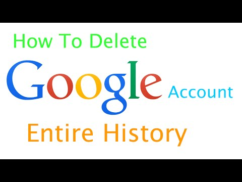 How to Clear Google account History | How to Delete entire Google account history