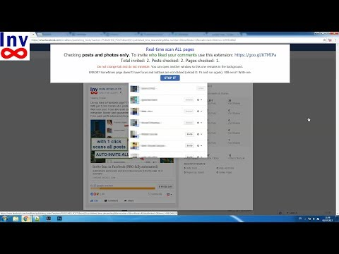 Facebook Invite Post likes - Multi-Pages & Real-Time. PRO