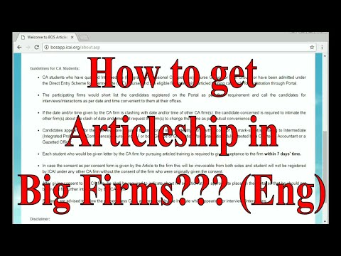 Best way to Find Articleship in Big Firms || Find Articleship in Big 4 Firms of India (English)