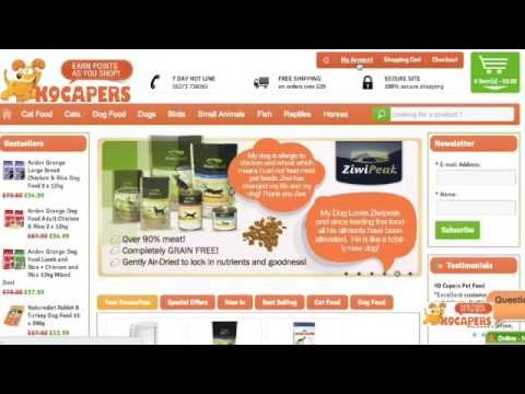 How To Create an account at K9Capers.co.uk