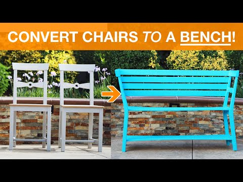 Convert Two Chairs Into A Bench