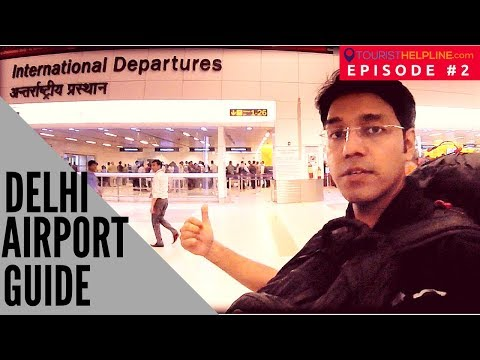 NEW DELHI AIRPORT TERMINAL-3 (2017) : Check in, Immigration, Security, Duty free (ON CAMERA)
