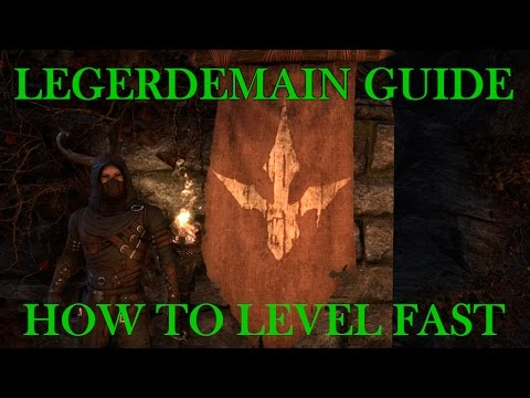 ESO: Legerdemain Guide - How to Level Fast (9.16.16)