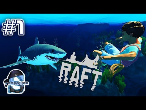 MASSIVE New Raft Update! - RAFT BUILDING AND SHARK SPEARING SURVIVAL ACTION - RAFT GAMEPLAY #1
