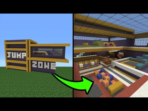 Minecraft Tutorial: How To Make A Trampoline Park Part 2/2