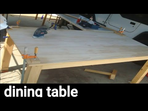 How to make a dining table no skills needed