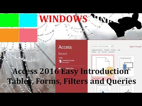 Microsoft Access 2016 Introduction To Tables, Forms and Filters Tutorial