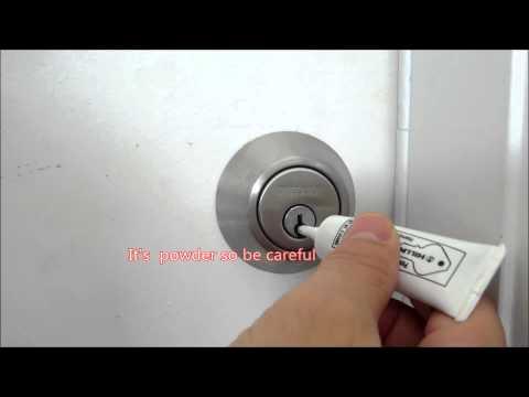 How to lubricate a door lock