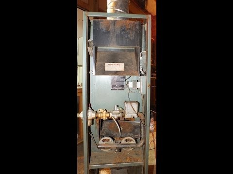 Service of the antique pilot furnace part 1