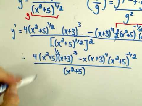 Derivatives - Quotient and Chain Rule and Simplifying