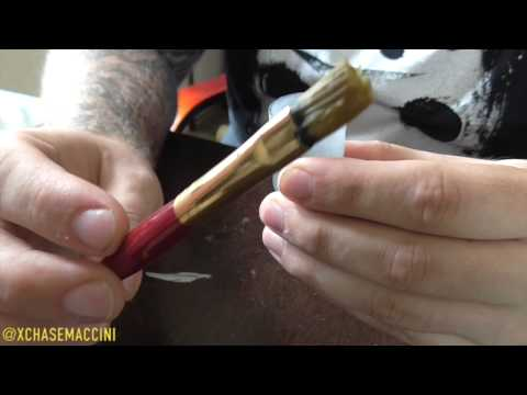 Sneaker Restoration Tips 1 - How To Clean Your Paint Brushes