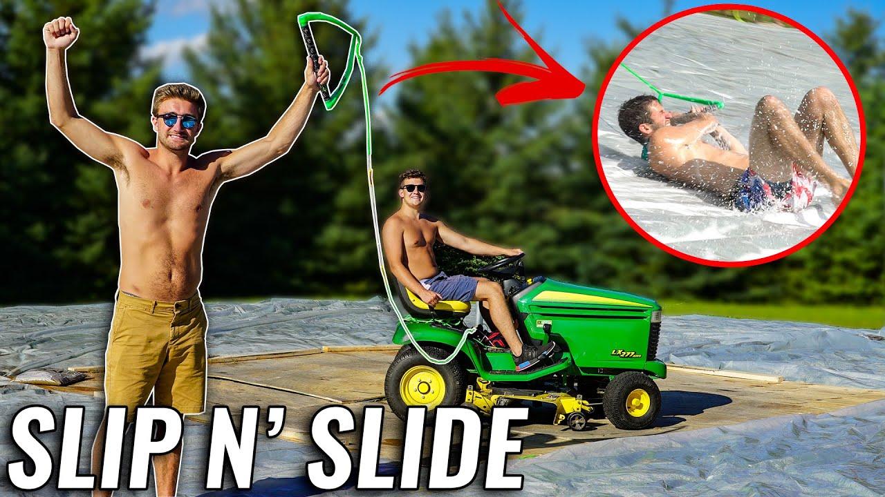 Lawn mower Slip n' Slide!!