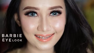 Cara Makeup Barbie Pakai Produk Lokal Murah.. Tutorial Super Mudah | Eyes Makeup