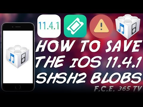 How To Save iOS 11 4 1 SHSH Blobs (For Downgrades) | Save