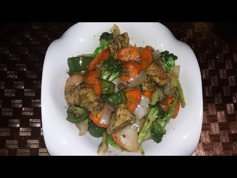 Chicken , Broccli And Carrots