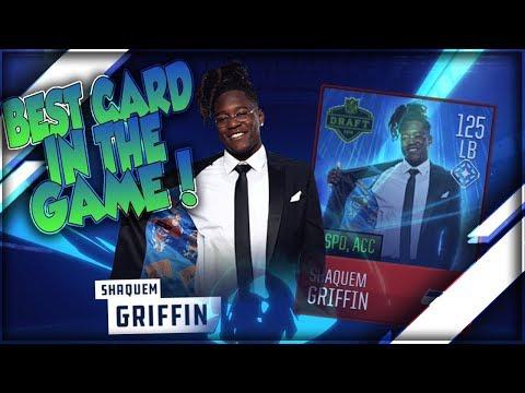 BEST CARD IN THE GAME!! 117 OVR SHAQUEM GRIFFIN!! MADDEN MOBILE 18 NFL DRAFT LEGEND PACK OPENING!