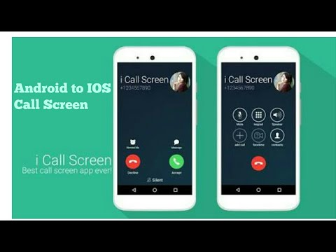 Turn your call screen to IOS call screen without flash and root