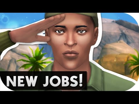 THE SIMS 4 // MOD REVIEW   NEW JOBS! MILITARY, EDUCATION + FASHION!