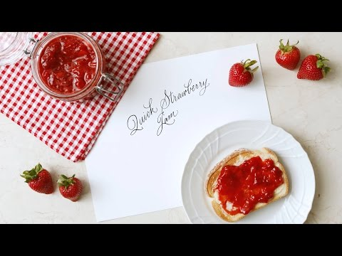 Quick & Easy Strawberry Jam- Martha Stewart