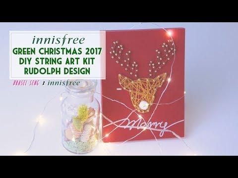 Innisfree Green Christmas 2017 DIY String Art Kit - Rudolph design